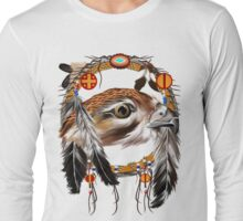 Hawk Face Dream Catcher Long Sleeve T-Shirt