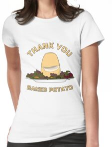 Thank You Baked Potato Womens Fitted T-Shirt