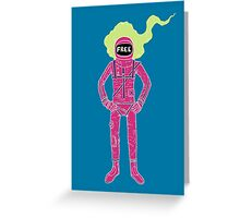 Fire Astronaut Greeting Card
