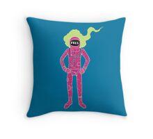Fire Astronaut Throw Pillow