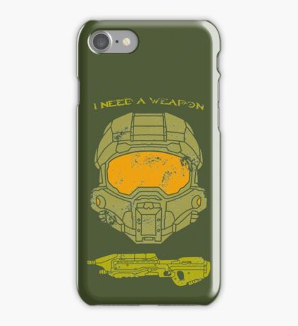 I need a weapon. iPhone Case/Skin