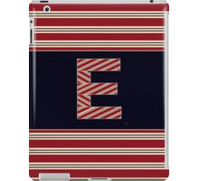 BROOKLINER BOSTON 1920s MONOGRAM alphabet letter initial  E iPad Case/Skin
