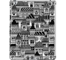 Black and White Busy Body Houses iPad Case/Skin