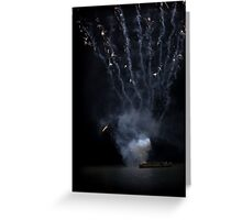exploding boat Greeting Card