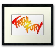 FATAL FURY Framed Print