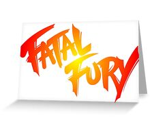 FATAL FURY Greeting Card