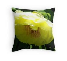 Yellow Tree Peony Throw Pillow
