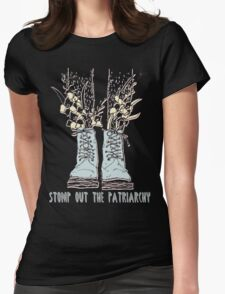 STOMP OUT THE PATRIARCHY Womens Fitted T-Shirt