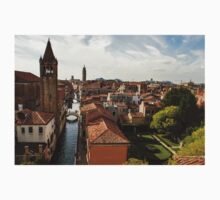 Red Roofs of Europe - Venetian Canals, Palaces, Gardens and Courtyards One Piece - Long Sleeve