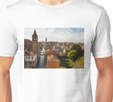 Red Roofs of Europe - Venetian Canals, Palaces, Gardens and Courtyards Unisex T-Shirt