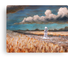 Long Blue Canvas Print