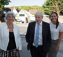 Boris Johnson  visits the Maypole project by Keith Larby