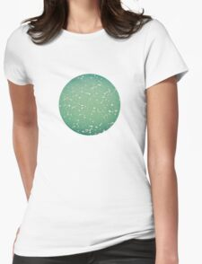 Green ocean blur Womens Fitted T-Shirt
