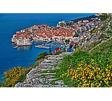 Looking at Dubrovnik Photographic Print