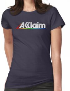 Acclaim Old School Video Game Logo Womens Fitted T-Shirt