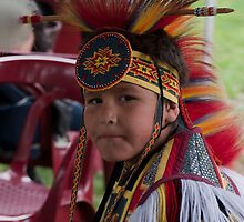 American Indian Boy by Jarede Schmetterer