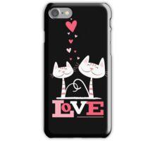 2 Cats in Love iPhone Case/Skin