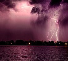 High Cloud Lightning Strike by Bo Insogna