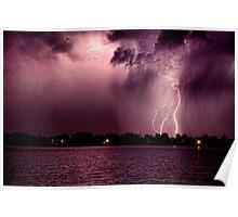 High Cloud Lightning Strike Poster