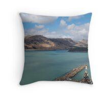 Aqua waters - Lyttleton Harbour NZ.- Throw Pillow