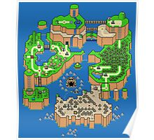 DINOSAUR'S LAND MAP Poster