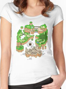 DINOSAUR'S LAND MAP Women's Fitted Scoop T-Shirt