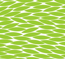 Abstract Leaf Design - Martian Green by Artberry
