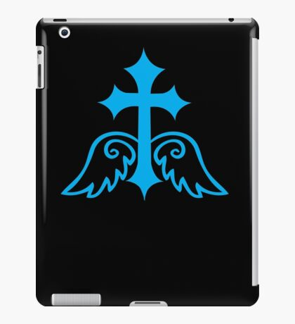 Blue gothic gross with wings iPad Case/Skin