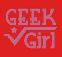 GEEK Girl cute girly pink nerd design One Piece - Long Sleeve