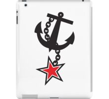 Navy ANCHOR in black with a STAR iPad Case/Skin