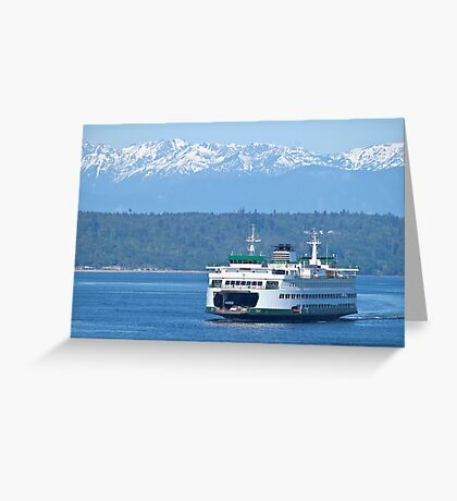 Edmonds Ferry on Puget Sound Greeting Card