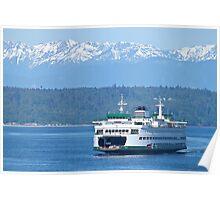Edmonds Ferry on Puget Sound Poster