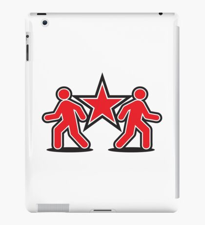 Dancing shuffle man RED STAR iPad Case/Skin
