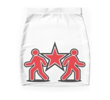 Dancing shuffle man RED STAR Mini Skirt