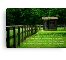 There Is A Field Canvas Print