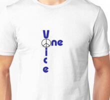 One Voice for Peace. Unisex T-Shirt