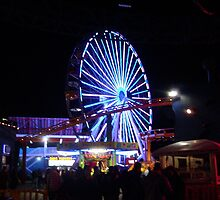 Ferris Wheel at Santa Monica Pier by lindsaywinckel