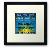 Your Life is Now - Inspirational Framed Print