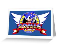 SONIC TITLE SCREEN Greeting Card