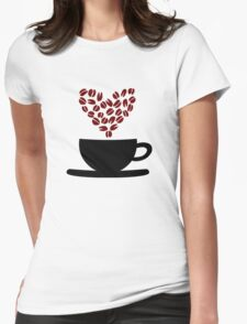 Love Coffee Womens Fitted T-Shirt