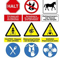 Musketeer Safety Signs (print/card) by redscharlach