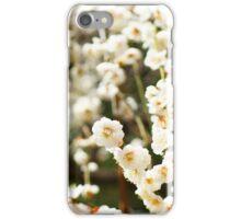 White plum blossoms iPhone Case/Skin
