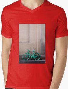 Green Cycle Mens V-Neck T-Shirt