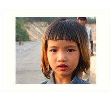 Bridge girl in Dac Lak province, Central Vietnam Art Print