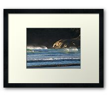 Seascape at Squeaky Beach, Wilsons Promontory Framed Print