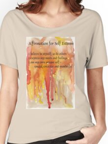 Affirmation for SELF-ESTEEM Women's Relaxed Fit T-Shirt