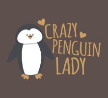 Crazy Penguin Lady  Baby Tee