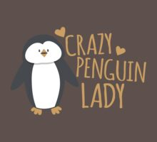 Crazy Penguin Lady  One Piece - Short Sleeve