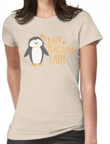 Crazy Penguin Lady  Womens Fitted T-Shirt