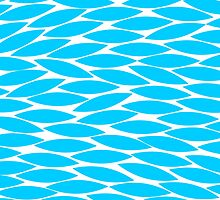 Abstract Leaf Design - Sky Blue by Artberry